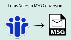 convert Lotus Notes NSF file to MSG